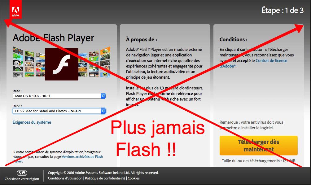 plus jamais Flash