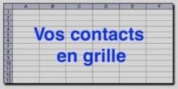 vos contacts en grille