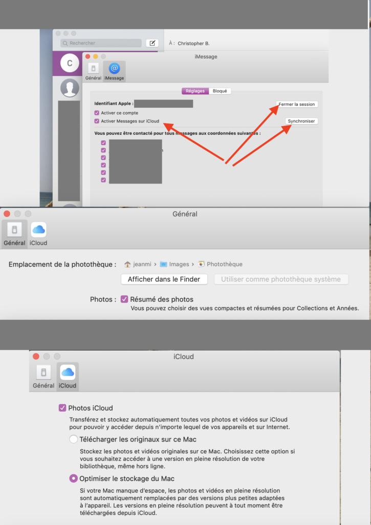problème synchronisation iCloud