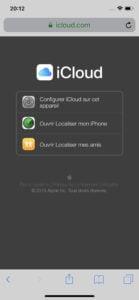 Aller sur iCloud sur l'iPhone ou l'iPad