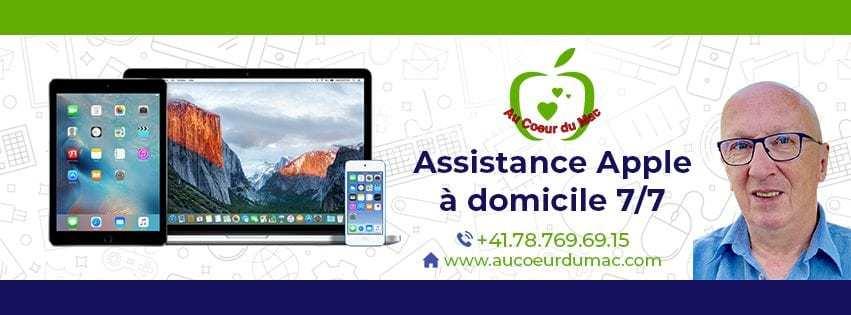 Assistance Apple domicile Genève