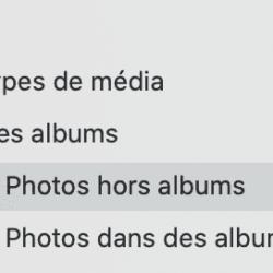 Trouver vos photos hors album