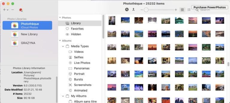 travailler avec plusieurs bibliothèques Photos