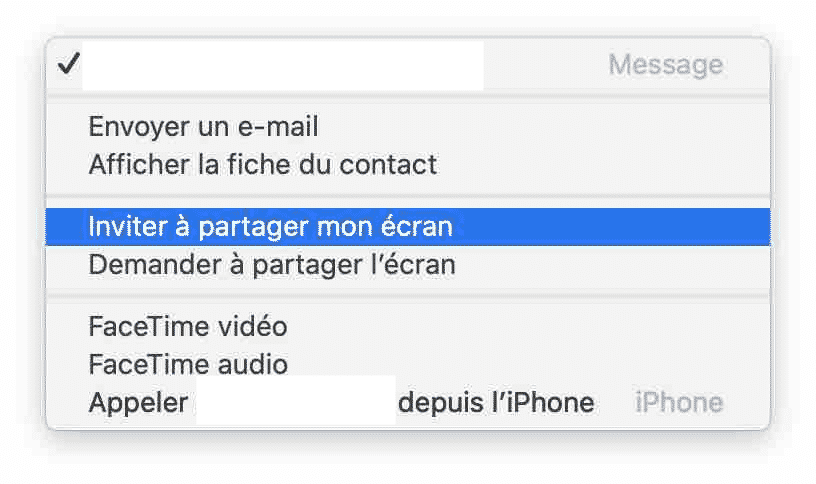 partage écran entre deux macs
